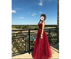 Вечернее платье (марсала)