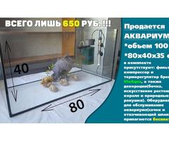 СРОЧНО продается аквариум 100л